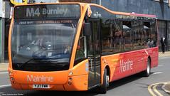 Transdev Burnley YJ17 FWM 249 (WY Bus Spotter) Tags: west yorkshire bus spotter wybs mainline transdev burnley pendle m1 m2 m3 m4 two tone orange livery queensgate depot station transport optare versa cummins yj17fwm 249