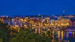 summernight (Klaus Mokosch) Tags: prag prague praha tschechien urban night bluehour blauestunde landscape city cityscape architektur architecture klausmokosch hdr river bridge moldau building longexposure reflection spiegelung europe europa