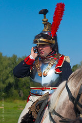 """Bonjour, général ..."" (yuriye) Tags: communications cavalry napoleon yuriye people history battle borodino russia french soldier horse mobile fun retro cuirassier army кирасир кавалерия наполеон бородино реконструкция reconstruction historical reenactment 1812"