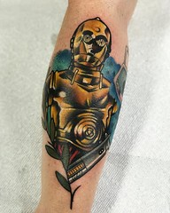 orlando tattoo star wars c3po leaf gold disney (R2-Tattoo.com) Tags: orlando tattoo tatoos tattoos disney universal droid r2d2 color sleeve black grey realism realistic neo traditional neotrad video game instagram nature ink inked florida art rose roses jeffrey wortham epic ae lucasfilm licensed cover up coverup c3po