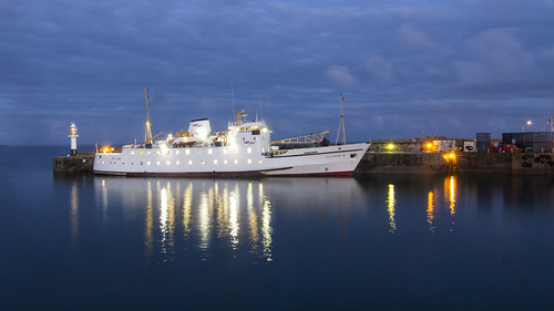 Scillonian moored at Penzance