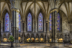 Lincoln Cathedral 28 (Darwinsgift) Tags: lincoln cathederal lincolnshire interior hdr nikkor 19mm f4 pc e tilt shift tiltshift corrected perspective tripod multiple exposure