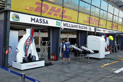 Williams garage and pits