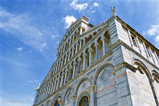 Eastern exterior, Pisa's Santa Maria Assunta, Italy