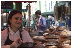 Bread of Heaven, Buying Brownies, Borough Market (theimagebusiness) Tags: theimagebusinesscouk theimagebusiness photography travel tourism touristattraction london uk city citylife cityculture capital capitalcities urban life britain shop store retail buying shopping bread cake girl serving assistant smile chocolate borough boroughmarket street streettraders stalls markets food eating cooking