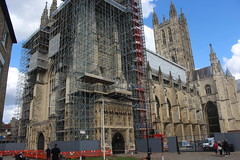 A visit to Canterbury Cathedral (Davydutchy) Tags: canterbury kent england greatbritain uk cathedral kathedraal kathedrale church kerk kirche église tsjerke scaffold scaffolding steiger august 2017
