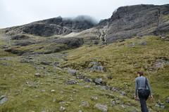 DSC_9348 (nic0704) Tags: scotland hiking walking climbing summit highlands outdoor landscape hill mountain foothill peak mountainside cairn munro mountains skye isle island cuilin cuillin blaven blà bheinn red black elgol