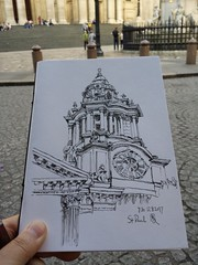 St Paul cathedral. London. (homephoenix) Tags: stpaul london architecture fountainpen inkdrawing drawingonlocation urbansketchers sketchbook sketchaugust sketch penandink perspective