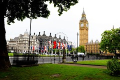 The eye and the tower (dhirajkumarhazra) Tags: london uk europe westminster abbey parliament bigben sunny