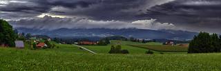 Sturmwolken über dem Dreisesselberg