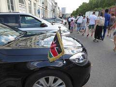 Kenyan diplomatic car (seikinsou) Tags: brussels belgium bruxelles belgique summer nationalday independenceday holiday publicholiday kenya diplomat ambassador car flag