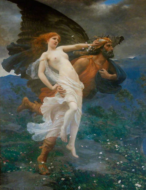 Charles William Mitchell (1854-1903) by 1qcur - The flight of Boreas with Oreithyia, 1893