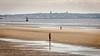 Across the River (Hindsited) Tags: crosbybeach anotherplace rivermersey wallasey newbrighton ironmen antonygormley domeofhome fortperchrock newbrightonlighthouse beach sand