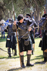 Scottish Halberdiers (GazerStudios) Tags: hats scottish kilts warriors battle boots dirks livinghistory 55300mm nikond90 celtic halberds weapons yummy armor men black renaissance 15thcentury sporrans leather historicalreenactment berets crochet bracers groups