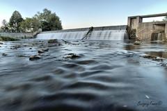 Hespeler Dam (Underock) Tags: dam speedriver hespeler water river nikon log lowpov rocks waterfalls d500 longexposure walkway