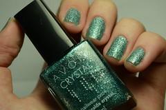 1C 10M 10A # Sand: Esmeralda Crystal - Avon. (Raíssa S. (:) Tags: verde green sand liquidsand unhas nails naillacquer nailpolish avon