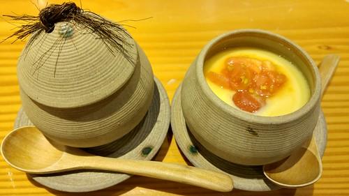 Chawanmushi with tomato