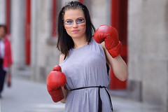 Montreal-Otakuthon-2017_Kira_002 (Besisika) Tags: montreal otakuthon 2017 cosplay cosplayer color matching red costume boxing figher lady woman girl outdoor portrait fun strobe flash godox ad600 xplorer canon 135mm f2 street