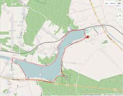 Hike around Zalew Brodzki (roomman) Tags: 2017 poland świętokrzyskie voivodeship starachowice map track hike hiking 11k 11km km 11 round lake brody village villages zalew brodzki dam artificial