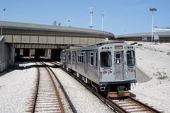 Chicago CTA - Yellow Line - n/b departing Howard for Skokie - CTA 3200 series 3453 (David Pirmann) Tags: cta chicago elevated subway train railroad transit rapidtransit yellowline howardstation cta3200series skokieswift
