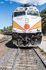 Blasted Away (jeff_a_goldberg) Tags: summer grandcanyon nature train grandcanyonrailway grandcanyonvillage locomotive nationalparkservice emdf40ph grandcanyonnationalpark diesellocomotive arizona unitedstates us