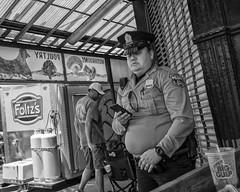 9th St. - South Philly, 2017 (Alan Barr) Tags: philadelphia police 2017 italianmarket 9thstreet washingtonstreet street sp streetphotography streetphoto blackandwhite bw blackwhite mono monochrome candid people city panasonic gx8