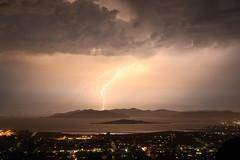 Lightning (lenswrangler) Tags: lenswrangler digikam lightning flickrfriday power sanfranciscobay elcerrito goldengatebridge electricity clouds night sky