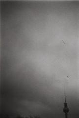 Fernsehturm, Berlin (rolandosanchez4) Tags: fernsehturm analogic analog blackandwhite bnw berlin 200asa nikon ft2 nikomat