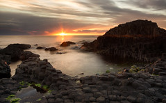 Sun Pool (-- Q --) Tags: giantscauseway atlanticocean causewaycoast ballycastle paddysbarn sunset sea atmosphere northernireland qthompson sky clouds lee09hardgrad lee09softgrad marumidhgcpl
