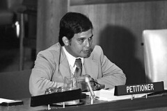 Robert A. Underwood at United Nations, 1982