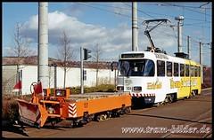104-2007-03-10-1-Betriebshof (steffenhege) Tags: gera tram strasenbahn arbeitswagen schneepflug t4d 104