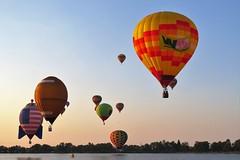 Morning Light (Patricia Henschen) Tags: balloonliftoff balloonclassic hotairballoon prospect lake memorialpark park prospectlake colorado coloradosprings downtown laborday labordayliftoff balloon balloons morning dawn