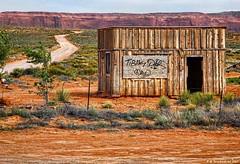 A Navajo Shed, Monument Valley Navajo Tribal Park, Arizona (PhotosToArtByMike) Tags: monumentvalleynavajotribalpark navajonation navajoshed indiantribe arizona az shed redsand desert sandstonebuttes mittensbuttes arizonautahborder filminglocation westernmovies