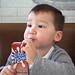 Calci-Yum (l plater) Tags: elliot grandson calciyum mcdonalds maccas stanmore