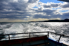 090117-174F (kzzzkc) Tags: nikon d7100 usa maine desertisland barharbor northatlantic ocean boat wake dusk drips