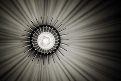 rays of light B&W (jonbawden50) Tags: bnw blackandwhite monochrome bw lampshade light rays electric abstract fuji lines