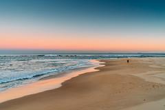 Vanilla Beach (haoguoju) Tags: landscaping vanillabeach vanilla a7m2 a7 sony sonya7markii sonyilce7m2 mirrorless zeiss fe fe35mmf14za 35mm f14 zeissfe35mmf14za distagontfe35mmf14za sel35f14z sonyzeissfe35mmf14za distagon t landscape nsw australia sydney newcastle newsouthwales winter seascape green sea outdoor sky blue lighthouse nobbys nobbysbeach coast coastwalk seaside water nobbyslighthouse beach sand nobbyshead horseshoebeach shadow light orange sunset cloudless