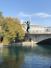 Funambule (Eric_G73) Tags: funambule tightropewalker geneva switzerland tightrope
