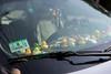 2017-08-06 Davis Square 001 (consolecadet) Tags: photoaday davissquare somervillema summer rubberducks ducks car windshield dashboard
