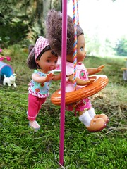 Push Me Please (flores272) Tags: playground kellydoll kelly outdoors barbie barbiedoll barbieclothing chelseadoll doll dolls toy toys