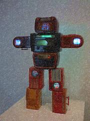 Radio Man (Steve Taylor (Photography)) Tags: namjunepaik television radi radiogram 1960s robot tatemodern bankside london se19tg art sculpture artgallery uk gb england greatbritain unitedkingdom shape glow bakelite