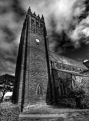 Saltburn Church (Baz 3112) Tags: foranyonewhosinterested 500px hdr hdrcollection hdrgallery hdrphotography hdrphoto blackandwhite blackwhite church architecture perspective streamzoofamily monochrome