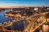 Portugal - Porto Blue Hour (030mm-photography) Tags: portugal porto city cityscape architektur architecture bluehour ponteluis1 duoro nightshot nachtaufnahme travel reise landscape landschaft