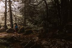 Running in the woods (boni_villasirga) Tags: nature naturaleza paisaje landscape color colour sunset forest bosque atardecer amanecer dawn luz light chica girl runner running run correr deporte sport francia france pyrenees pirineo pirineos europa europe montaña montana mountain