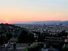 Sunset Views of Florence (travelontheside) Tags: italy italia tuscany toscana florence florenceitaly firenze sunset sanminiatoalmonte oltrarno