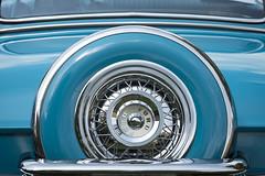 Ford (DJ Wolfman) Tags: vintage olympus olympusomd em1markii 12100mmf4zuiko zd blue spare wheel trunk