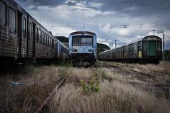 Fin de Vie II (fabien.nothias) Tags: urbex nuage clouds trains rails apocalypse sky ciel lumière light france abandonné abandonned