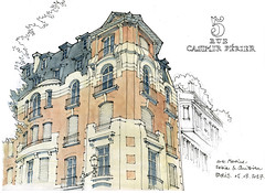 Paris, 2017 (gerard michel) Tags: france paris architecture sketch croquis aquarelle watercolour artnouveau
