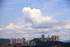 IMG_7474 (Ethene Lin) Tags: 白雲 藍天 積雲 大樓 台北市 高壓電塔