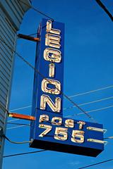 American Legion Post 755, Manteno, IL (Robby Virus) Tags: manteno illinois il american legion post 755 neon sign signage fraternal organization veterans war soldiers
